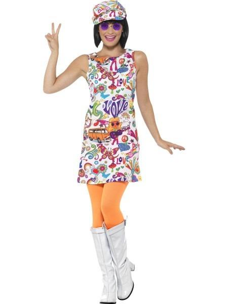 60's Groovy Chick Costume, Multi