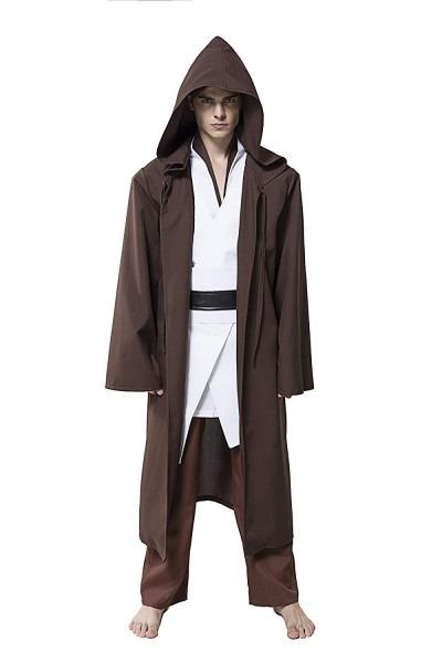 Amazon Com  Honey Box Men Halloween Costume Tunic Hooded Jedi Robe