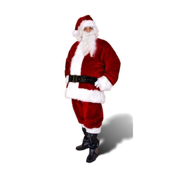 Xxl Maroon Polyester Santa Claus Suit At Lowes Com