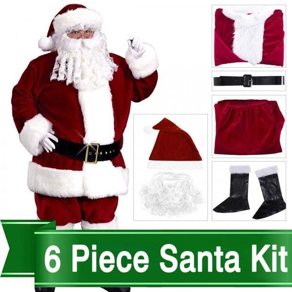 Amazon Com  Christmas Santa Claus Costume Set Men Santa Costume
