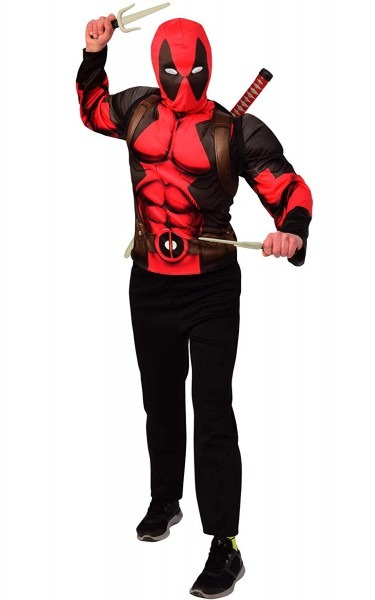 Amazon Com  Imagine By Rubie's Deadpool Teen Costume Top And