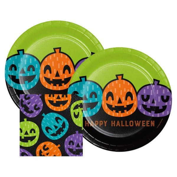 Amazon Com  Playful Pumpkins Halloween Dinner Plates And Paper