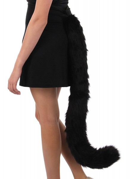 Amazon Com  Elope Kitty Cat Costume Tail Black For Adults And