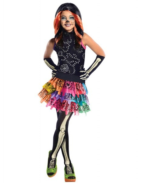Amazon Com  Childs Girls Monster High Skelita Calavera Costume And