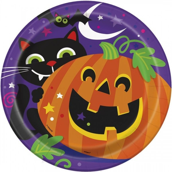 Amazon Com  Happy Halloween Dinner Plates, 8ct  Kitchen & Dining