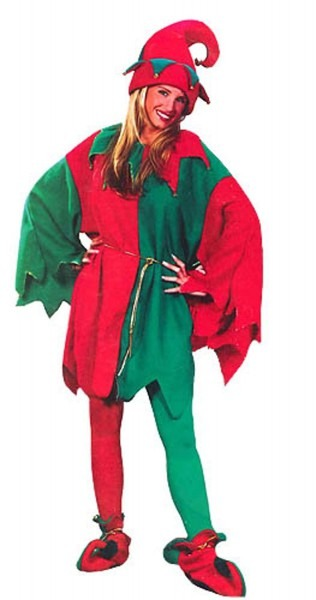 Amazon Com  Red And Green Elf Tunic Unisex Christmas Costume With