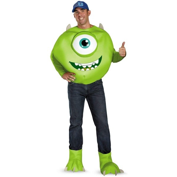 Amazon Com  Disguise Deluxe Monsters Inc  Mike Adult Costume  Clothing