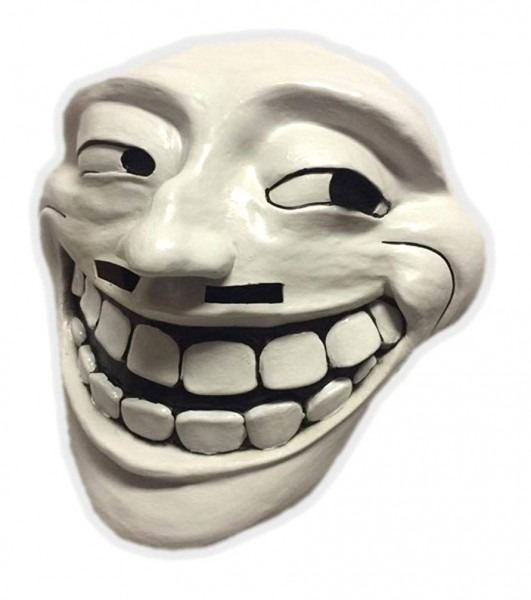 Amazon Com  Ghoulish Masks Trollface Adult Mask