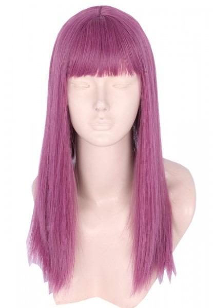 Amazon Com  Topcosplay Kids Wig Purple Long Mal Cosplay Wig
