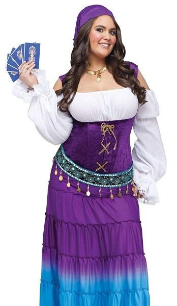 Amazon Com  Fun World Women's Gypsy Moon Plsz Diamond, Multi Extra