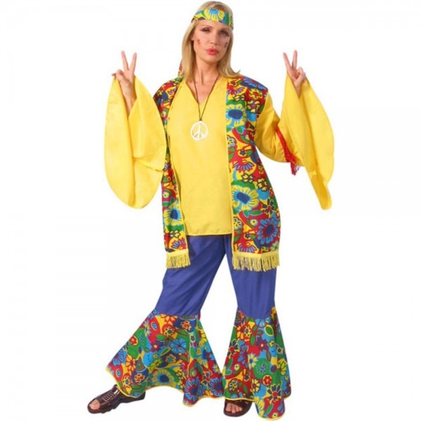 Amazon Com  Womens Hippie Flower Child Costume (size Large 12