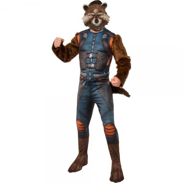Amazon Com  Rubie's Costume Gotg2 Deluxe Rocket Raccoon Adult