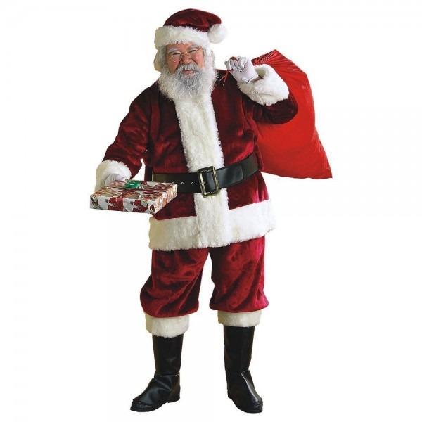 Crimson Regency Plush Santa Suit Claus Costume Christmas Fancy