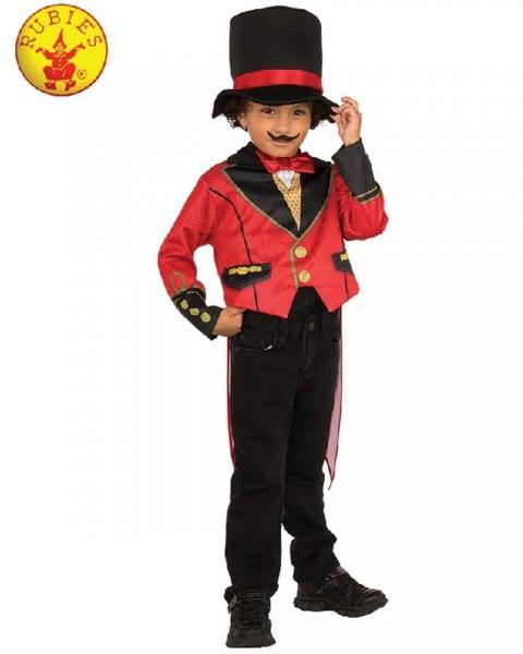 Ck1169 Ringmaster Child Costume Circus Showman Lion Tamer Top