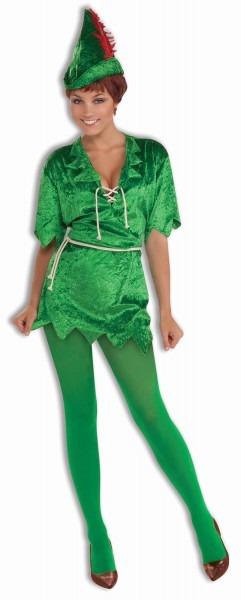Peter Pan Robin Hood Green Elf Tunic Adult Womens Sexy Costume Xs