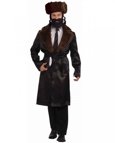 Cl836 Black Rabbi Jewish Religious Coat Tails Fancy Dress Mens