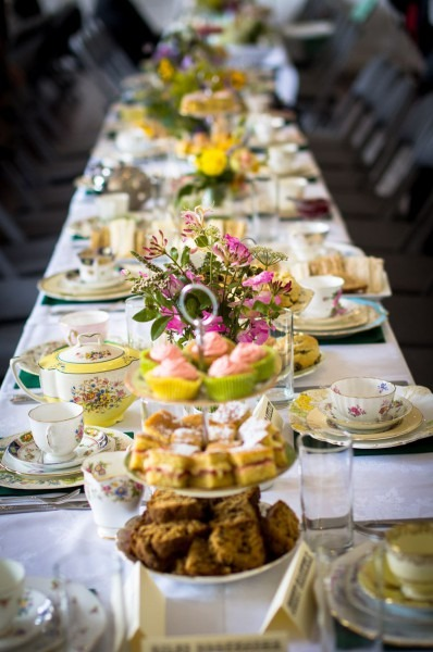 Afternoon Tea On Vintage Cake Stands And China By Itsy Bitsy