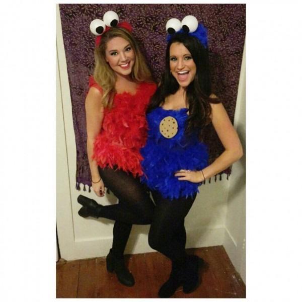 Elmo And Cookie Monster Halloween Costume Diy
