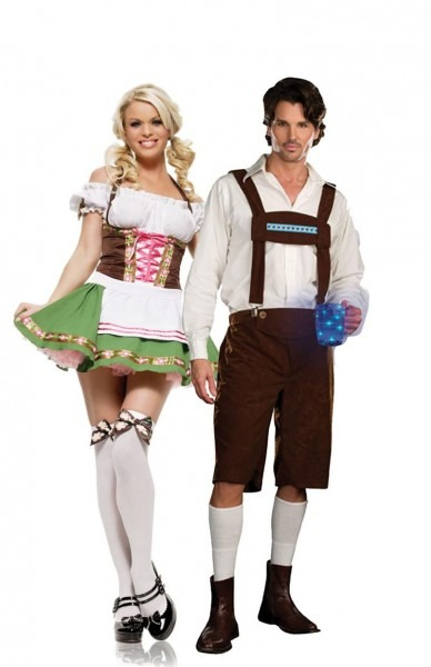 Funny Couples Costumes, German Beer And Lederhosen At Teezers