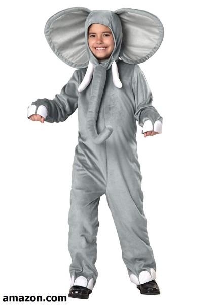 Big Boys' Child Elephant Costume