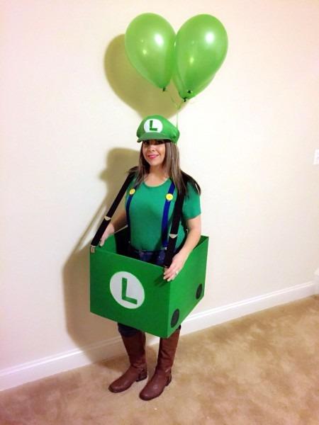 Homemade Halloween Costume Super Mario Kart Luigi Part Of A Group