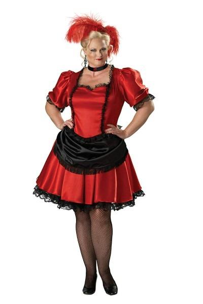 Amazon Com  Incharacter Premier Red Black Saloon Gal Western Plus
