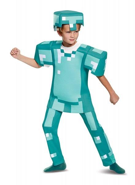 Amazon Com  Armor Deluxe Minecraft Costume, Blue, Small (4