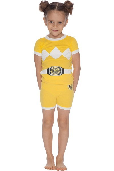 Amazon Com  Power Rangers Girls' Toddler Yellow Costume Pajama