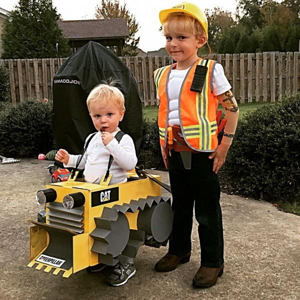 Costumes Bulldozer Costume Construction Costume Halloween Kids