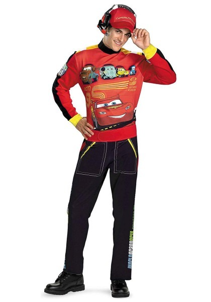 Amazon Com  Cars Lightning Mcqueen Adult Costume  Clothing