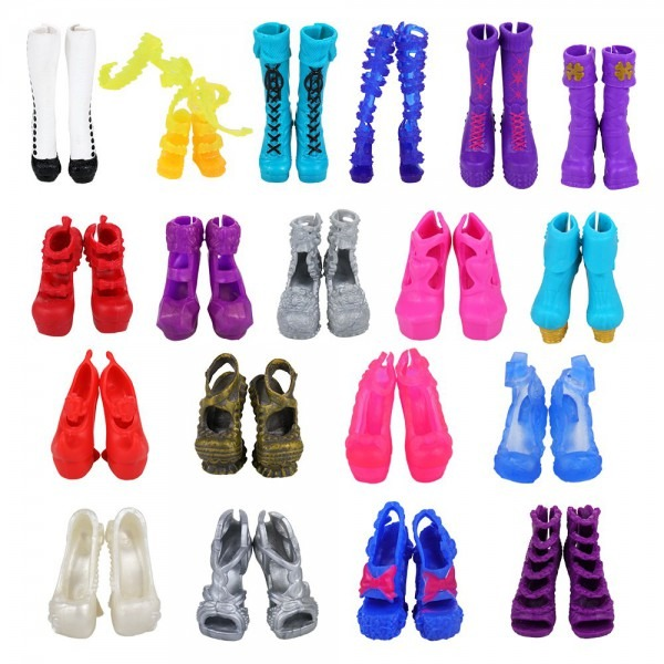 Amazon Com  Barwa 10 Pairs Doll Shoes Accessories For Monster High