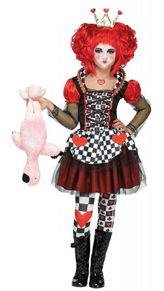 Fun World Queen Of Hearts Girls Child Alice In Wonderland Costume