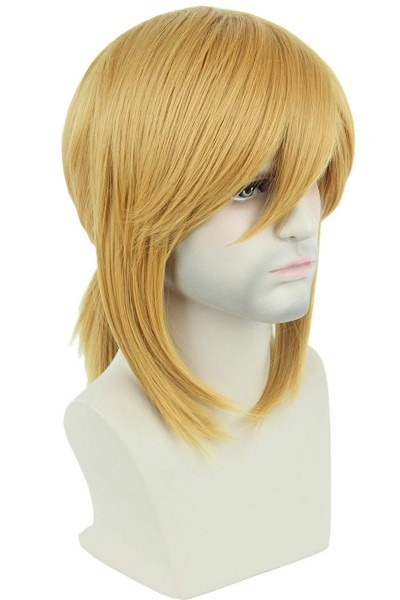 Amazon Com   Topcosplay Blonde Wig Short Side Bangs With Braid