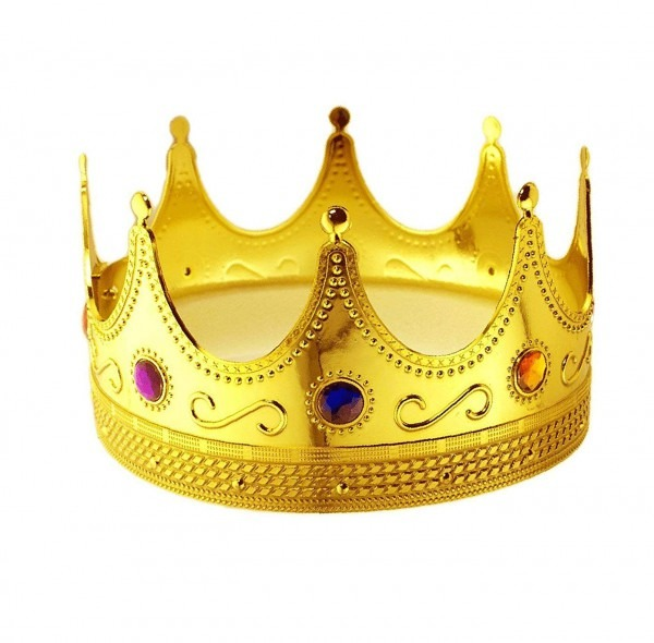 Amazon Com  Tytroy Royal King Gold Jeweled Plastic Dress Up Crown