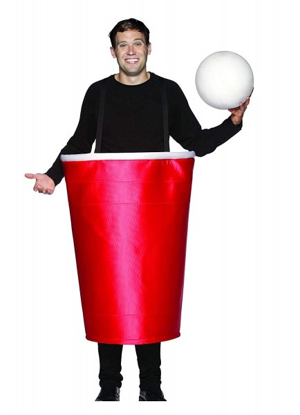 Amazon Com  Rasta Imposta Beer Pong Cup Costume, Red, One Size