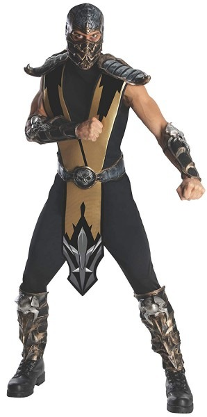 Amazon Com  Mortal Kombat Scorpion Adult Costume, Gold, One Size
