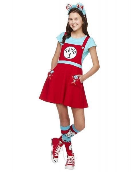 Amazon Com  Spirit Halloween Kids Thing 1 And Thing 2 Dress