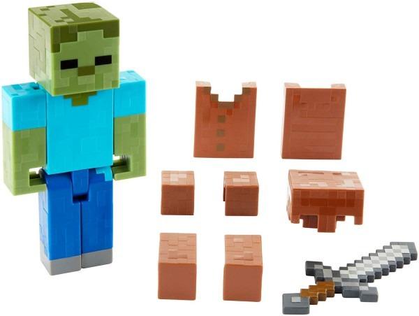 Amazon Com  Mattel Minecraft Zombie In Armor Basic Figure, 5