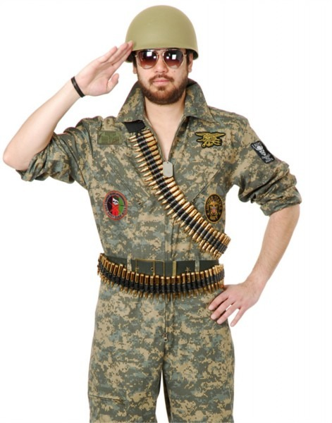 Deluxe Adult Costume Accessory Tan Desert Storm Soldier Army G I