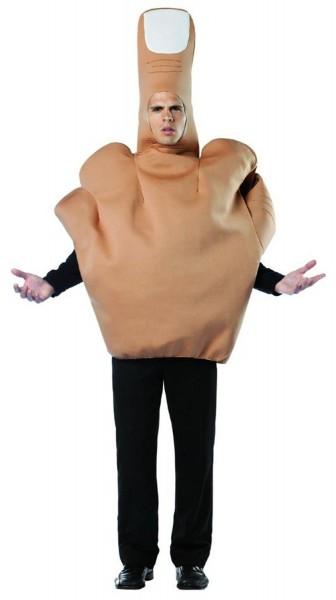 Men's Middle Finger Flip The Bird Halloween Costume