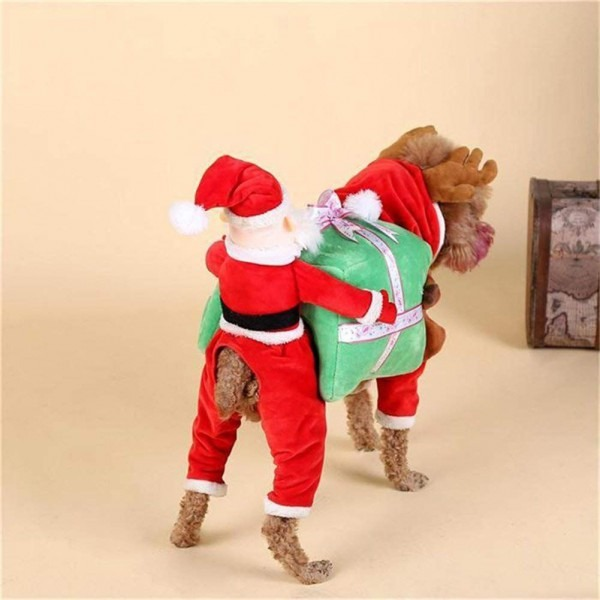 Nacoco Dog Costume Carrying Gift Box With Santa Claus Pet Cat