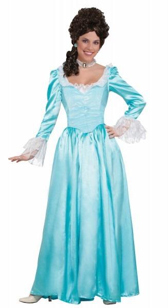 Adult Blue Aqua Colonial Lady Costume Dress Historical Pioneer