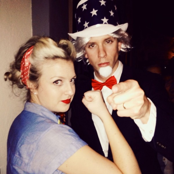 Rosie The Riveter And Uncle Sam   Halloween  Rosietheriveter