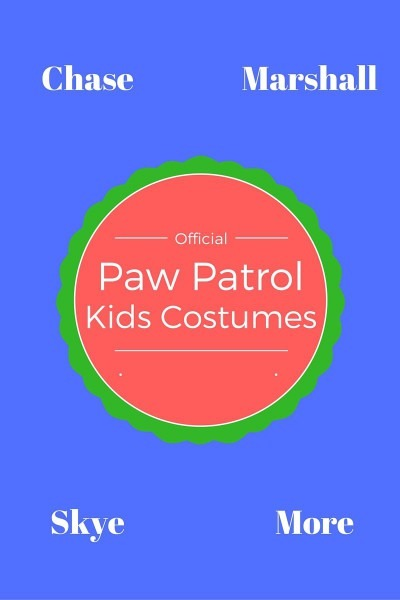 Paw Patrol Costumes Kids In 2017