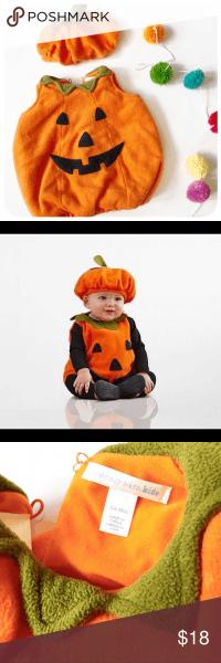 Pottery Barn Kid }} Fleece Baby Pumpkin Costume Pottery Barn Kids