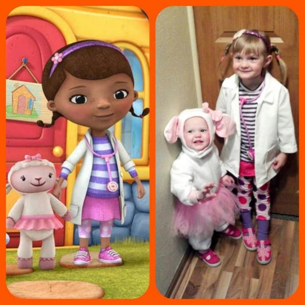 Doc Mcstuffins And Lambie I Can See Anna Dressing Up As Lambie