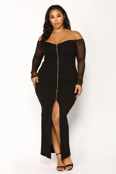 Plus Size Morticia Dress