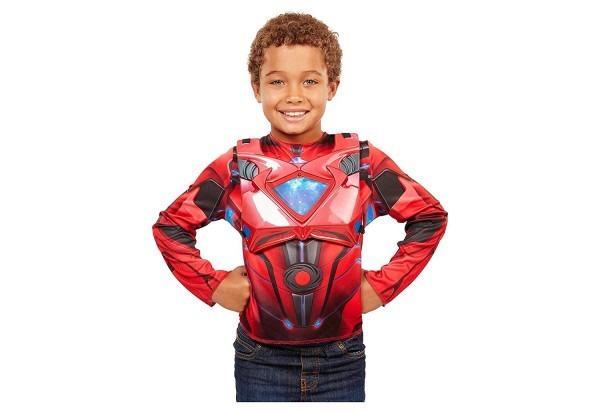 Amazon Com  Power Rangers Movie Red Ranger Deluxe Dress Up Costume