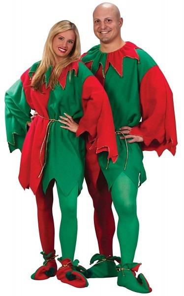 Amazon Com  Fun World Costumes Men's Adult Elf Tunic, Red Green