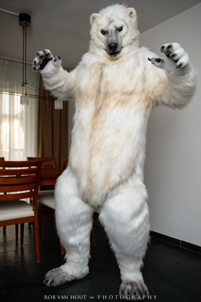 "Allthefursuits  "" Garrodor In Their Awesome Polar Bear Suit Made"